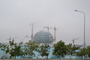 Bauarbeiten anlässlich der Expo 2017 in Astana