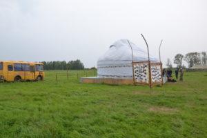 Eine traditionelle mongolische Jurte